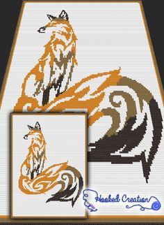 Tribal Fox Mini C2C Twin Sized Blanket Crochet Pattern - PDF Download