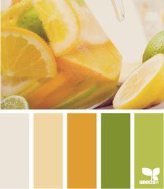 Citrused Hues by Design Seeds Scheme Color, Colour Pallette, Colour Schemes, Color Patterns, Color Combos, Design Seeds, World Of Color, Color Of Life, Home Decoracion