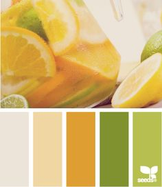 citrused hues - love this for a spring or fall wedding palette