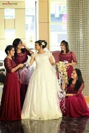 Pin By Minz On Kerala Christian Wedding And Function Bridesmaid