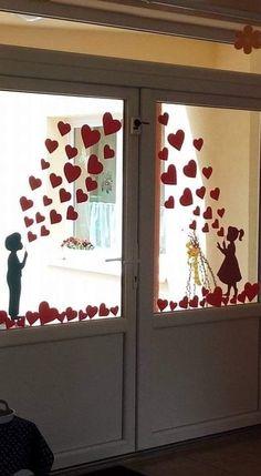 School Decorations, Heart Decorations, Valentine Decorations, Valentine Crafts For Kids, Valentines Diy, Diy Crafts For Kids, Creative Birthday Cards, Valentines Bricolage, Creations