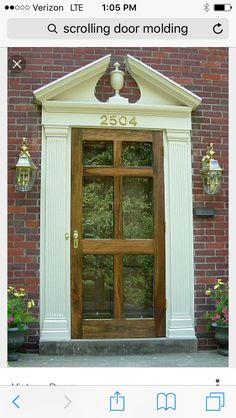 d307b07afef Scroll front door molding Glass Storm Doors