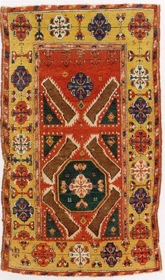 """An Inlice Rug ca., a hundred years old, Konya, Central Anatolia, Turkey. The exhibition and catalog of """"Bosphorus to Samarkand. The curator and author of this catalog and this exhibition are Russell Pickering with Tony Landreau. """"Mary Jo Otsea on """"Super Smalls"""" from Sotheby's."""