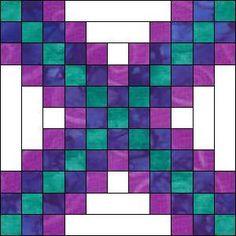 Irish Chain Quilt Block - alternate piecing method