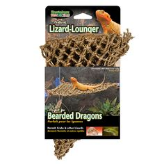 Penn Plax Lizard Lounger, Natural Seagrass Fibers For Anoles, Bearded Dragons - Compare and Shop The Best Stuff Reptile Supplies, Pet Supplies, Reptile Decor, Bearded Dragon Terrarium, Reptile Habitat, Frog Habitat, Dragons, Crested Gecko, Wild Bird Food