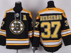 BOSTON BRUINS #37 BERGERON BLACK A PATCH JERSEY