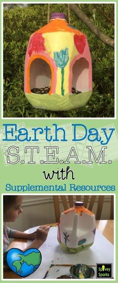 Earth Day STEM Challenge! Students will solve a problem reusing recyclables to invent something new. NGSS K-2-ETS 1-1 Come check it out!