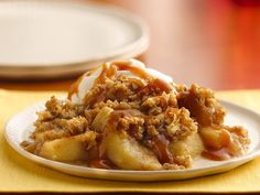 Caramel-Apple Crisp. The perfect fall desert!