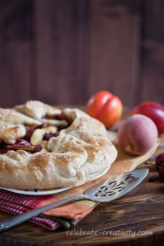 Cherry and peach galette