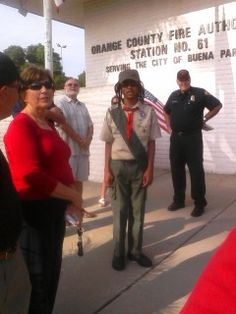 September 11, 2012 -- earning his Patriot Day patch.