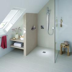 Bildergebnis für dusche in dachschräge