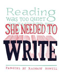 Quote from 'Fangirl' by Rainbow Rowell Katalin Bártfai. Eleanor And Park, Writing Memes, Favorite Book Quotes, Rainbow Rowell, Word Nerd, Book People, Page Turner, Book Fandoms, Book Authors