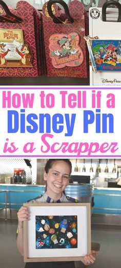 The ULTIMATE guide on How to Tell if a Disney Pin is a Scrapper. Pin trading is a huge at Walt Disney World and so much fun. Disney Pin Trading, Disneyland Pin Trading, Disneyland Pins, Disney World Tips And Tricks, Disney Tips, Disney Pixar, Disney Villains, Disney Cruise, Disney Stuff