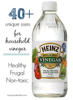 I can't believe that I use vinegar nearly every day now. It's truly a miracle worker and there are some uses I would have never thought of.  40 Wonderful household uses for vinegar from beautyandbedlam.com