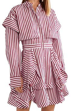 Shop Tradesy for always-authentic treasures including this used size 6 (S) Alexander McQueen White / Red Asymmetric Layered Striped Cotton-poplin. Shipping always included.  |  Tradesy is the leading used luxury fashion resale marketplace | 100% AUTHENTIC, OR YOUR MONEY BACK | We have a zero-tolerance policy for replicas. Our authentication rate is best in the industry (Stronger than eBay, ThreadUp, The RealReal, Poshmark, Vestiaire, and Worthy), our smart technology automatically detects… Alexander Mcqueen, Classy Work Outfits, Modest Fashion, Poplin, Luxury Fashion, Casual Shorts, Street Wear, Cotton, How To Wear