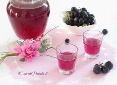 Liquore all'uva fragola - Ricetta Il Cuore in Pentola