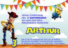 Aniversário de 3 anos do Arthur com o tema Minions e Toy Story
