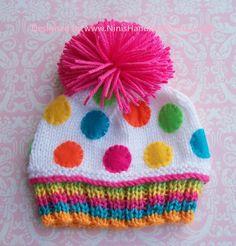 Knit CONFETTI Cupcake Hat