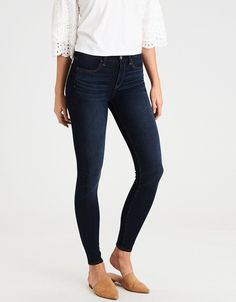 AE Dream Jean High-Waisted Jegging Deepest Azure