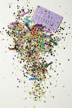 A Tiny Surprise Confetti #anthropologie