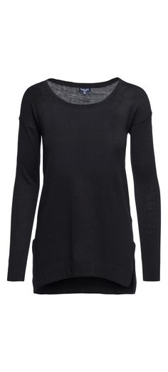 Splendid Logan Long Sleeve Pullover Sweater in Black / Manage Products / Catalog / Magento Admin