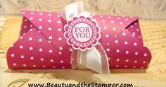 Make a great treat holder using the Stampin' Up! Envelope Punch Board by We R Memory Keepers