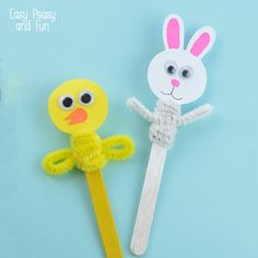 Easter Craft Stick Puppets - Easy Peasy and Fun