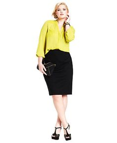 Holiday Style Guide Plus Size Jewel Tone Blouse Look Plus Size Fall Outfit, Plus Size Outfits, Trendy Outfits, Cute Outfits, Holiday Fashion, Holiday Style, Plus Size Skirts, Dressed To The Nines, Plus Size Model