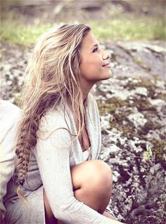 messy braid. long hair. i will master this... someday :/