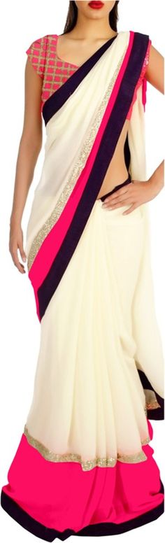 #BuyFromLink http://fkrt.it/Xk!~4NNNNN Krishna Fab Embriodered #Bollywood #Chiffon #Sari #Women #fashion #style #indian #saree