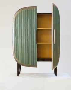 """Scarab Cabinet Ralph Pucci New York Bronze and dichroic coating, lacquer 61"""" x 43"""" x 17.5"""" (dimensions are approximate)"""
