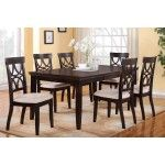 POUNDEX Furniture - Elegant 7 Piece Dining Set with Upholstery Cushion - F2199-SET