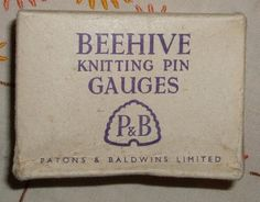 Box for Beehive Knitting Pin Gauges