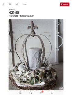 Metal Crown, Terrarium, Wreaths, Home Decor, Deco, Terrariums, Decoration Home, Door Wreaths, Room Decor