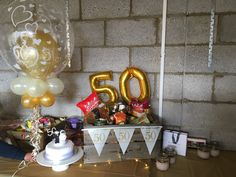 Golden wedding anniversary hamper.. all gold!