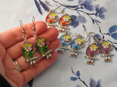 Link with rupee Four Swords dangle earrings in by emmadreamstar, $10.00
