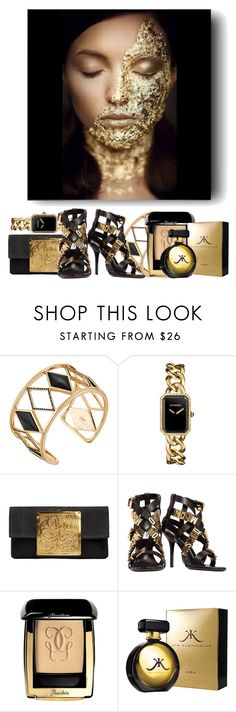"""""""Golden age #2."""" by babysnail ❤ liked on Polyvore featuring Rebecca Minkoff, Chanel, Dareen Hakim, Moschino and Guerlain"""