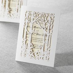 Birds in the Woods Laser Cut by B Wedding Invitations