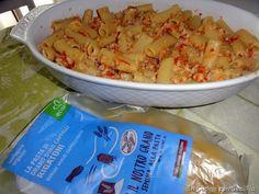 Rigatoni di grano duro Cappelli Ecor con sugo di cernia,verdure e erbe aromatiche
