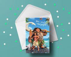 Carte de fête Moana avec enveloppe - Castello   Jeux et Jouets