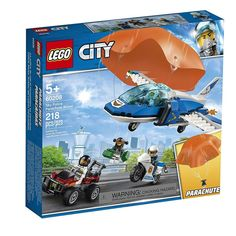 LEGO City Police - Sky Police Parachute Arrest and thousands more of the very best toys at Fat Brain Toys. Build a Sky Police jet, a getaway buggy, and a police motorcycle! The jet features an opening cockpit plus a hook that . Lego City Police, Police Cars, Police Vehicles, Buggy, Porsche 911 Rsr, Lego Dino, Avion Cargo, Figurine Lego, Construction Lego