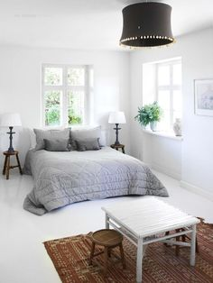 Gray and white room