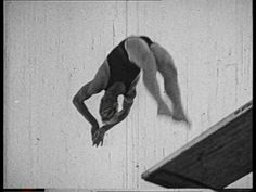 Marshall Wayne, Front Somersault with 180 twist, Fancy Diving, Olympia-Schwimmstadion Berlin, Olympic Stadium (Berlin), Olympic Games 1936, Summer Olympics, Public Swimming Pool, Competition (Event), 3rd Reich, Jumping, Professional / Fancy Diving / Olympic Games / Germany / 1936