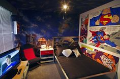 16 Superhero Boy's Room Inspirations » Design You Trust (love the Superman bed)