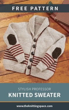 Keep your preschooler stylish this coming back to school season with this adorable professor knitted sweater. This knitting project is easy to make for such a rewarding piece. Discover over Free knitting patterns at Free Childrens Knitting Patterns, Baby Cardigan Knitting Pattern Free, Knitting For Kids, Free Knitting, Professor, Easy, School Routines, School Hairstyles, Trieste