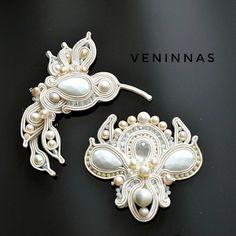 Textile Jewelry, Boho Jewelry, Beaded Jewelry, Jewelery, Soutache Necklace, Tassel Earrings, Shibori, Beaded Brooch, Glass Pendants