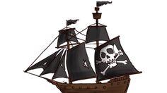 How to Draw a Pirate Ship : how to draw a pirate and a pirate ship.  #Pirate #Ship