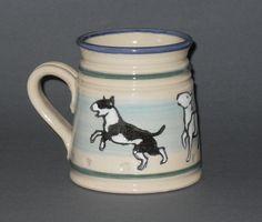 Bull terrier mug. $25.00, via Etsy.