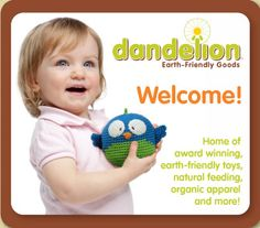 Innovative Toys, Bags, Layette & Feeding items, made of organic, natural & recycled materials. Baby Can have it All!
