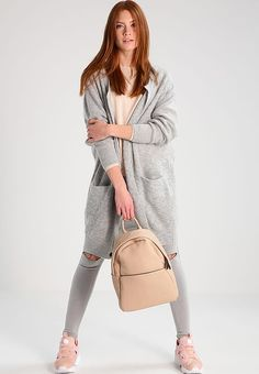 Moss Copenhagen VOGUE - Kardigan - light grey melange - Zalando.pl